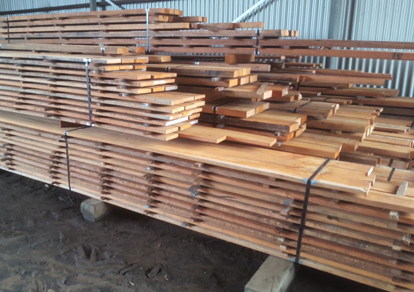 Select Jarrah stripped and ready for customers