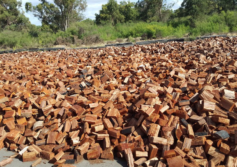 Firewood ready for sale.