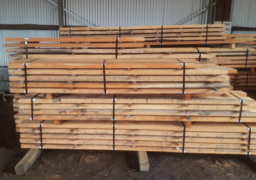 Red Gum stripped and ready to go